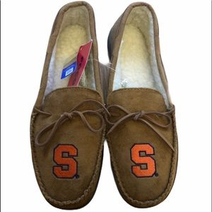 Syracuse Moccasins Slippers Mens Large 11/12  New